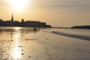 Saint-Malo coucher de soleil
