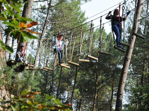 Parc de la Mi-Forêt acrobranches à Liffré